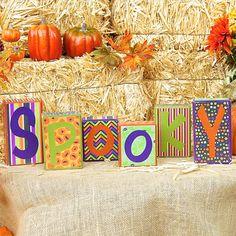 SPOOKY Halloween Blocks spooky blocks Holiday by SignsStuffnThings