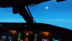 Chasing the moon! Jet, Aircraft, Moon, Aviation, Plane, The Moon, Airplanes, Planes, Airplane