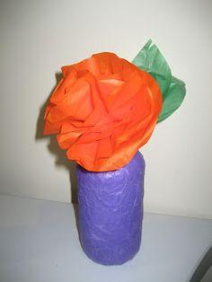 Preschool/Elementary Project - Tissue Paper Vases