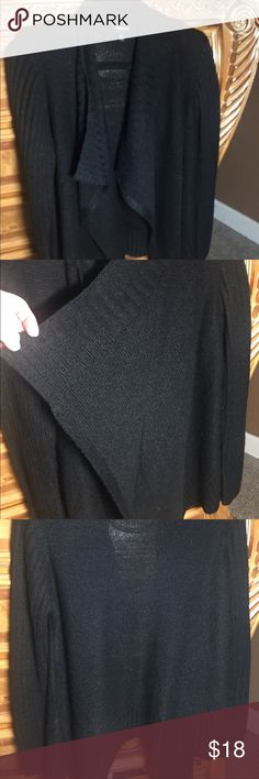 Women's Torrid Black Knit Cardigan Beautiful soft Cardigan - open waterfall front - medium Knit - perfect for layering - preloved and only worn twice - like new! torrid Sweaters Cardigans