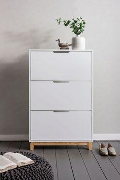 Noa and Nani Oslo Shoe Storage Unit in White Shoe Cabinet   £99.99   #ShoeStorage #Furniture #HomeDecor