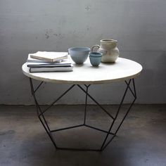 Origami Coffee Table | West Elm; 3 together? organic form to break up all linear elements