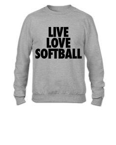 Live Love Softball - Crewneck Sweatshirt