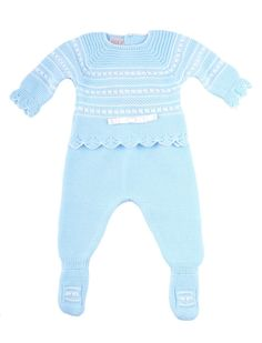 Baby blue Spanish newborn suit