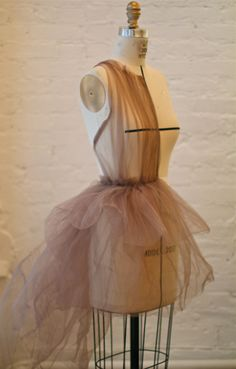 drape of a dress. experimenting with tulle.