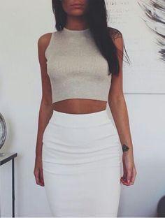 Pencil skirt & top
