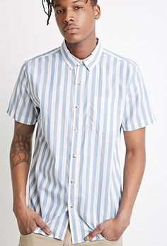 Awning-Striped Shirt | 21 MEN | #forever21men | #lyoness