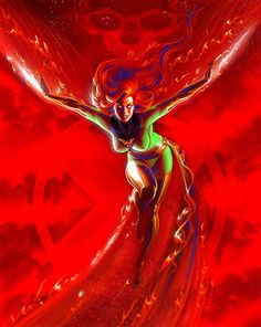Dark Phoenix by Joseph Michael Linsner