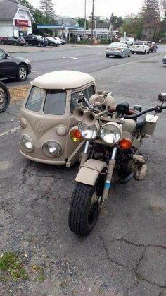Moto Design, Combi Wv, Vw Trike, Vw Cars, Cool Motorcycles, Volkswagen Bus, Volkswagen Transporter, Motorcycle Bike, Custom Bikes