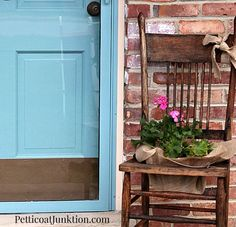how to turn a vintage chair into a chair planter petticoat junktion
