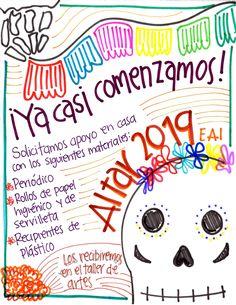 El Día de Muertos se acerca, ayúdanos a recolectar el material que vamos a necesitar  ¡Gracias! 😊 #ArtWorkshop #ArteEnLaActiva Snoopy, Fictional Characters, Enterprise Application Integration, Lets Go, Thanks, Paper Envelopes, Art