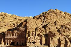 Petra's temples, tombs, theaters and other buildings are scattered over 400 square miles.<br />