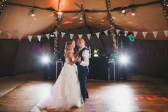 Getting the moves ready for a top first dance under the tipi!