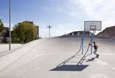 Superkilen - best practices here, combining basketball court with skateboard area - by BIG, Topotek1 and Superflex