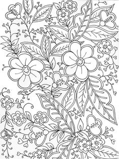 Printable Adult Coloring Pages, Cute Coloring Pages, Colouring Pics, Mandala Coloring Pages, Coloring Pages To Print, Coloring Books, Flower Coloring Sheets, Abstract Coloring Pages, Colorful Pictures