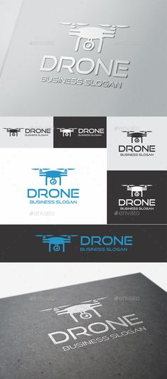 Drone  #aero #airplane #brand • Available here → http://graphicriver.net/item/drone/15557383?ref=pxcr
