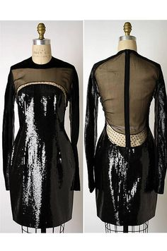 Museum Held Fall 1990-91 Geoffrey Beene Sequin and Lace Dress at ...