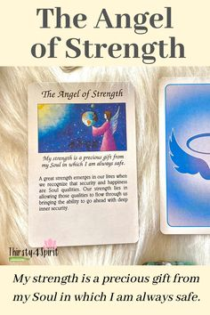 The Angel of Strength -- we are never given anything we CAN'T handle!! #angelguides #angelmessages #spirit