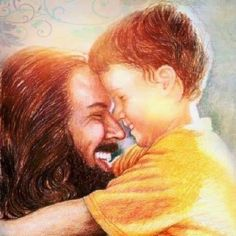 My heart. The fact, this looks like Jesus and the little boy in yellow. looks like my cousin. (He's no longer with us, he is with Jesus now. Jesus Is Risen, Jesus Loves Us, Lds Art, Bible Art, Jesus Art, God Jesus, Jesus Jose Y Maria, Jesus Laughing, Jesus Smiling