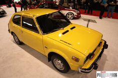 An amazingly clean and vintage #yellow #Honda #Civic
