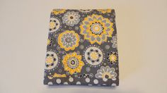 Modern Baby Quilt-Grey and Yellow Baby Bedding-Grey and Yellow Baby Quilt
