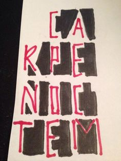 Tyler Joseph tattoo, this means seize the night in latin<<< ooooh
