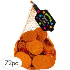 Chocolate coins @PartyCity - Dominion Board Game Copper Coin Card (value 1) - Board Game Night Dessert Table