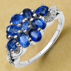 2.34CTW Genuine Kyanite .925 Sterling Silver Ring - http://www.johareez.com/shop/justbuyit/rings/2-34ctw-genuine-kyanite-925-sterling-silver-ring-11444/$10630213