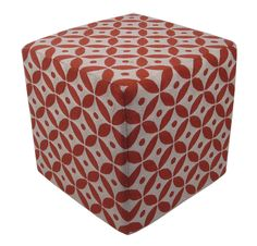 """Chain stitch is an ancient craft that can form flowing, curved lines that mimic """"drawing"""" in thread. Momeni's Chainstitch Ottomans are a beautiful accessory at 16""""x16"""" of 100% wool with a sturdy wooden base this accessory fits perfectly in to any setting. Matching pillow available.<br /><br />"""