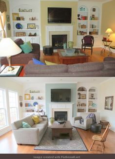 Before / After. Staging a home to sell.