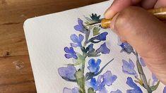 Watercolor Paintings For Beginners, Watercolor Landscape Paintings, Watercolor Techniques, Watercolor Sketchbook, Pen And Watercolor, Abstract Watercolor, Watercolor Pencils, Easy Drawing Tutorial, Flower Drawing Tutorials