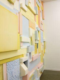 Wall installation by Katja Windau, inspired by Piet Mondrian. Composition Photo, Blue Photography, Art Public, Art Blue, Winter Garden, Installation Art, Textures Patterns, Color Inspiration, Art Projects