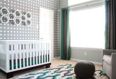 Modern Teal and Gray Nursery - #genderneutral #nursery