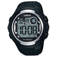 Lorus Gents Digital Black Strap Watch ** Want to know more, click on the image.Note:It is affiliate link to Amazon.