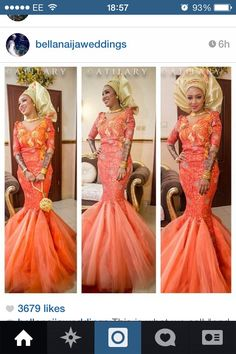 Aso-Ebi styles are getting more interesting and trendy. Today, we are featuring lovely eye popping & colorful Aso-Ebi styles worn by amazing women who love to wear exceptional, one-of-a-kind clothes… African Wedding Dress, African Print Dresses, African Dress, African Prints, Wedding Dresses, African Clothes, African Attire, African Wear, African Women