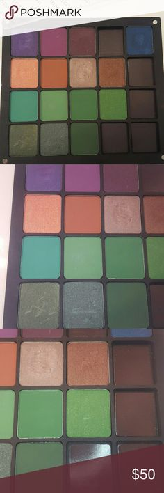 Inglot Freedom Palette Inglot Freedom Palette with multiple shadows.  A couple were swatched.  Shadows were bought separately from palette.  5 empty spots so additional pans can be added.  Palette is for 20 shadows ans retails for $23 Each shadow retails for $7 each Total is $128 INGLOT Makeup Eyeshadow