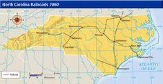 (1860) North Carolina Railroads