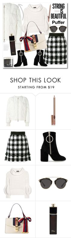 """""""Winter"""" by vkmd ❤ liked on Polyvore featuring Moncler, Charlotte Tilbury, Dolce&Gabbana, Off-White, Burberry, Christian Dior, Gucci and puffers"""