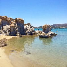 Stunning Kolymbithres beach , at Paros island (Πάρος) ☀️. A unusual kind of beach with unique white granite rocks formations . Crystal clear sea & a perfect wild nature !