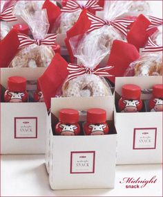 50 Fab Favours for your Wedding Day!  Maybe a midnight snack waiting for guests in the hotel rooms?