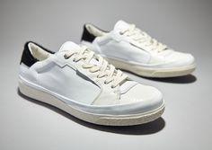 new product cb0e5 e1d4b Pantofola d Oro Hex Court LizardCavallinoVitello BiancoNeroBianco -. White  Shoes OutfitBlack WhiteMens ...
