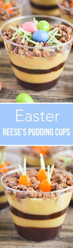 Planted Carrot and Egg Nests Easter Pudding Cups …such an easy and delicious recipe for Spring. The kids will love helping with this fantastic Easter dessert!