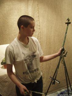 Фотография «Художник с мольбертом» 2005 г.  Екатерина Лебедева художница  http://lavizm.ru/