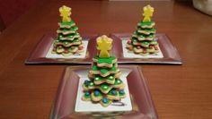 Arbolitos de galletas para regalar a sus compañeros de trabajo!