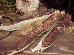 Primitive Waxed Prairie Corn Cob Wrap Tuck by oodlekadoodlePrim, $3.50