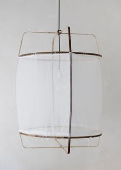 "Nelson Sepuvelda's Z1 Cotton Lamp: Remodelista. 67 x H100cm (26 X 39""). $320."