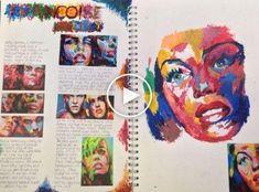 - A Level Art Sketchbook -Sketch Book - A Level Art Sketchbook - Artist Research Page, Francoise Nielly Kunst Inspo, Art Inspo, Arte Gcse, Identity Artists, Kunst Portfolio, Gcse Art Sketchbook, A Level Art Sketchbook Layout, Art Diary, Guache