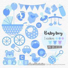 Baby BoyBaby Shower ClipartBluePastelBaby | Etsy