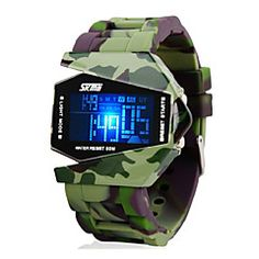 Men's Watch Camouflage Military Stealth Aircraft LED Multi-Function. Get unbeatable discount up to 60% Off at Light in the Boxs with Coupon and Promo Codes.