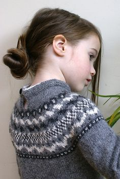 Lellknits' Fair Isle Frock .. will require a little adaptation for the machine